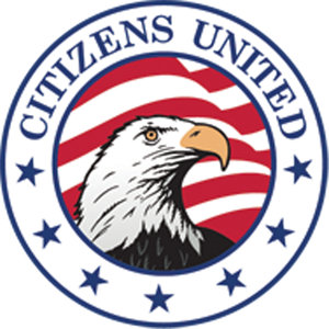 The logo for the non-profit group Citizens United