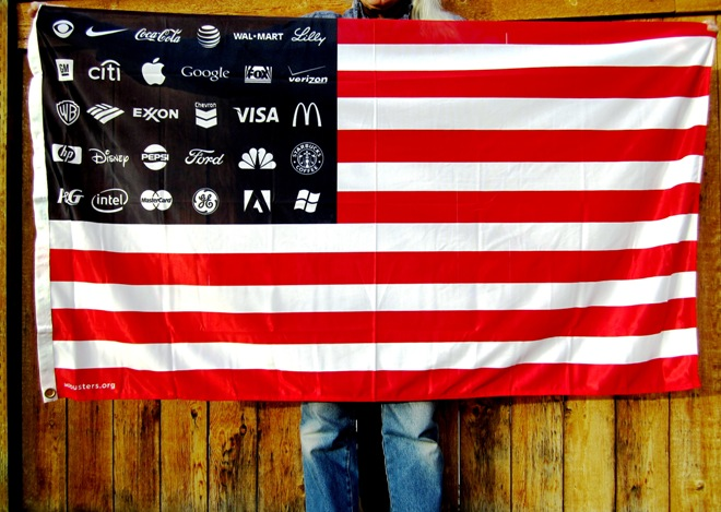 Corporate Logo Flags (US Flag) from Reclaim Democracy