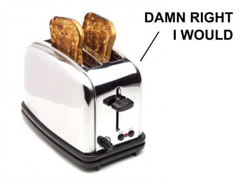 Citizens United gave this toaster first amendment rights