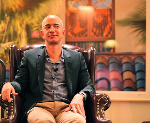 Jeff Bezos, with a knowing look